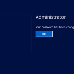 Hyper-V: Admin account password updated
