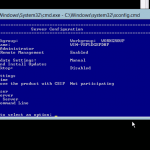 Hyper-V: Server Configuration Screen