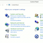 Windows 8 Control Panel - Programs