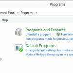 Windows 8 Programs and Features