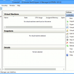 Hyper-V Manager in Windows 8